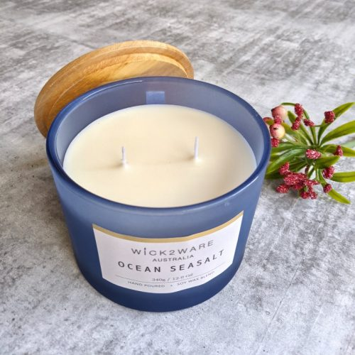 Ocean Seasalt Hand Poured Jar Candle