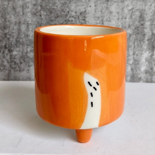 Orange Dog Planter Pot With Legs