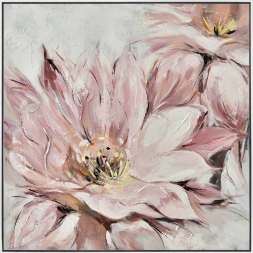 Pink Flower Framed Canvas