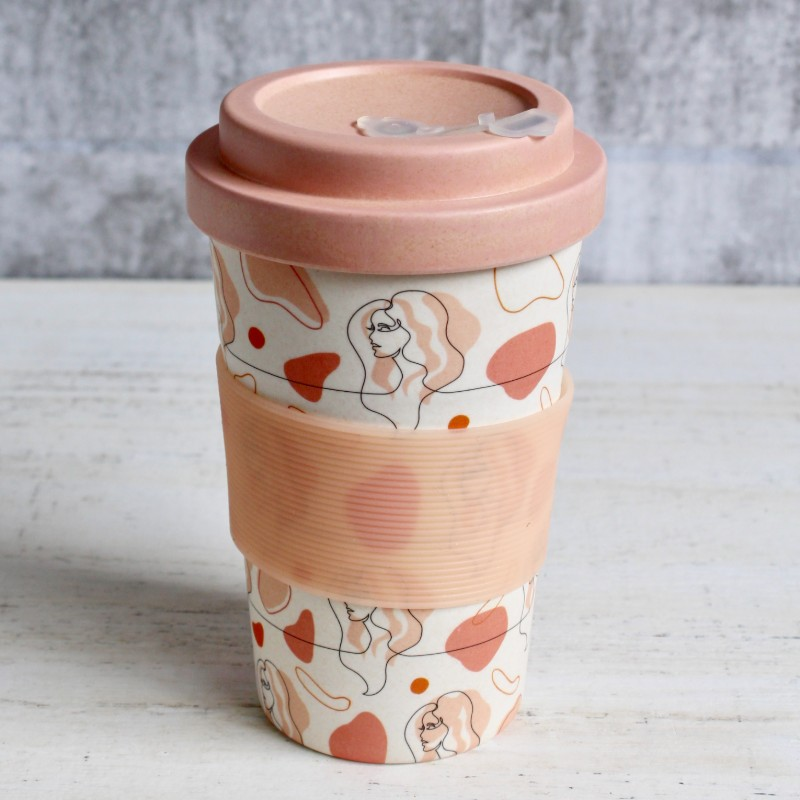 Pink Girl Eco Travel Coffee Cup