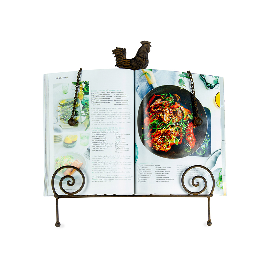 Rooster Chicken Cook Book Stand Recipe Holder