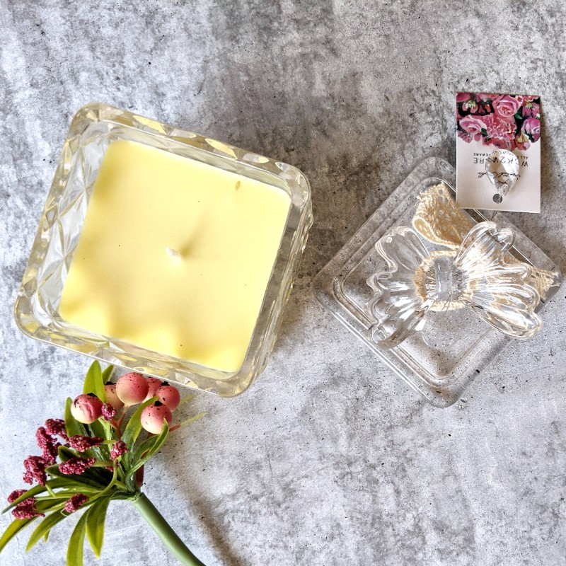 Scented Butterfly Glass Candle Jar