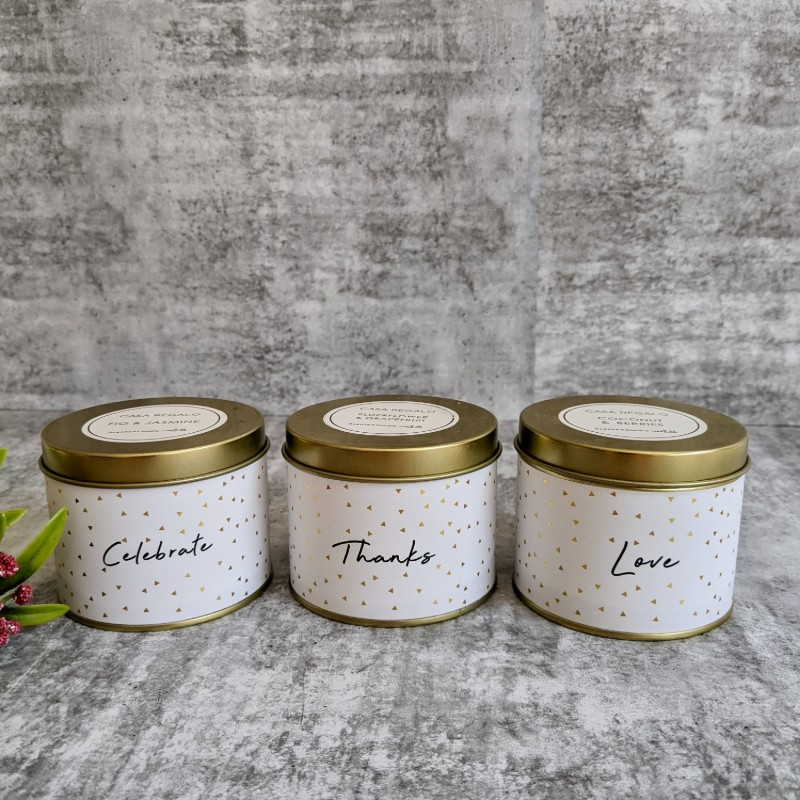 Set of 3 Scented Tin Candles