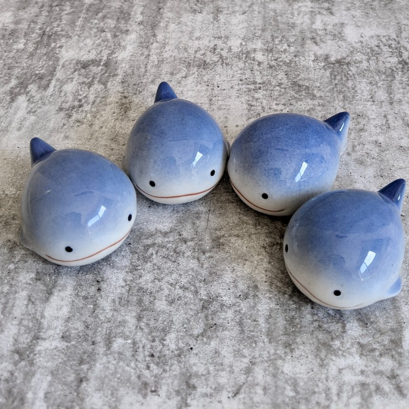 Set of 4 Floating Blue Whales