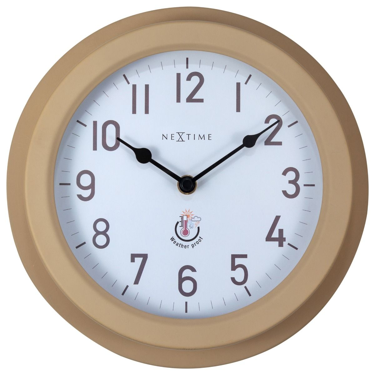 Small Brown Metal NeXtime Outdoor Wall Clock