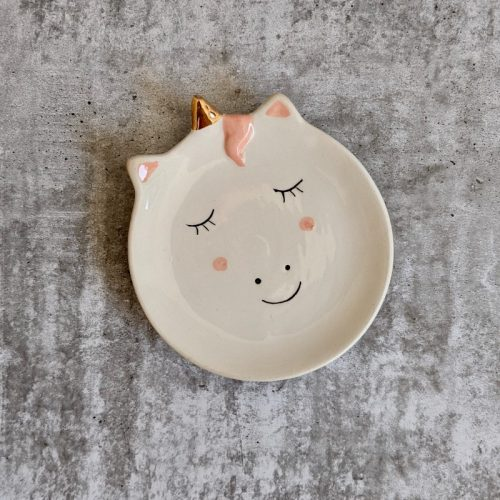 Unicorn Ceramic Trinket Dish