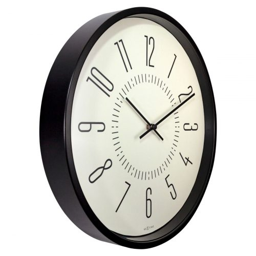 White NeXtime Glow In Dark Silent Wall Clock