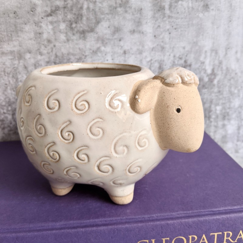White Sheep Planter Pot