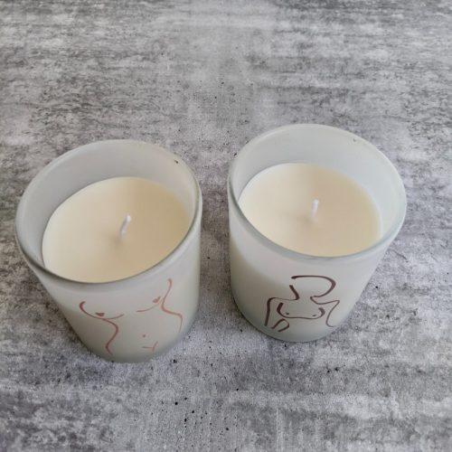 Girl Body Figure Candle - Set of 2