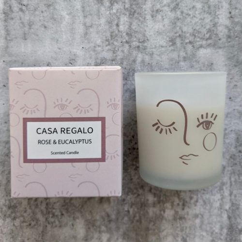 Girl Face Pattern Candle - Set of 2