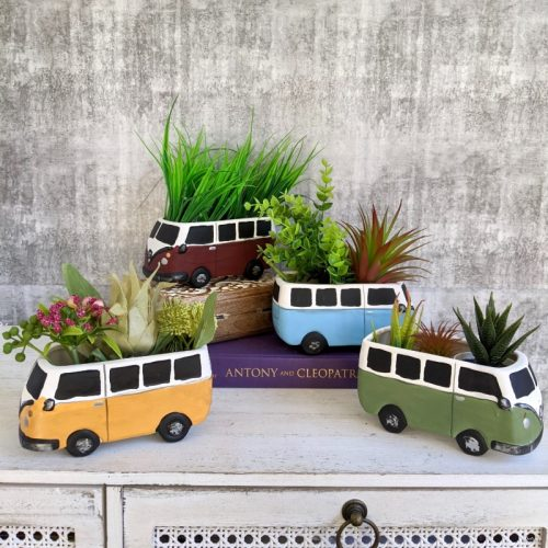 Beach Camper Caravan Planter Pot