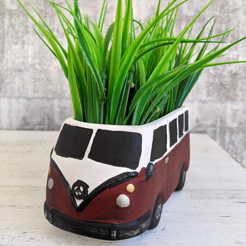 Beach Camper Caravan Planter Pot