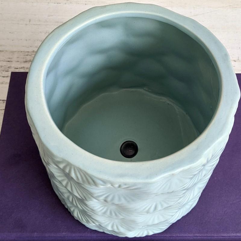 Blue Floral Planter Pot