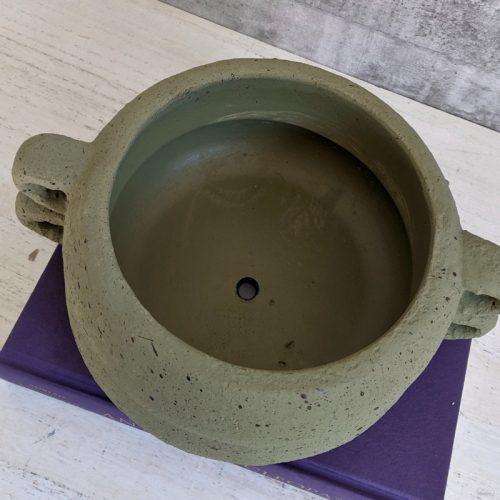 Concrete Bowl Planter Pot with Handles