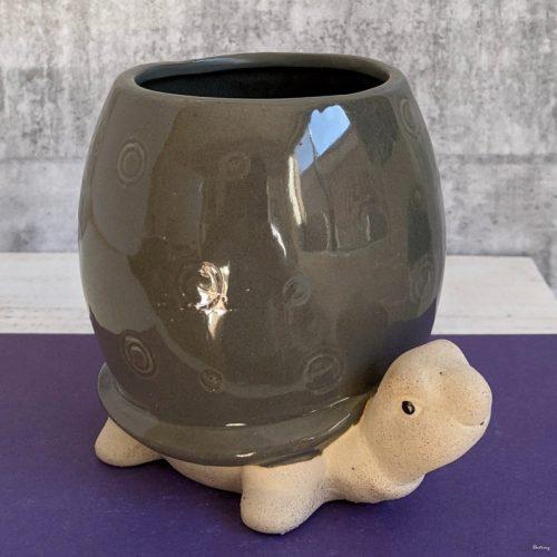 Grey Turtle Planter Pot