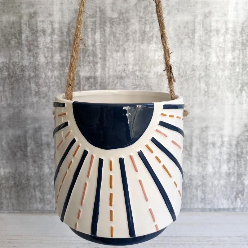 Hanging Sunshine Boho Planter Pot