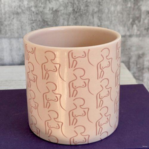 Pink Women Figure Planter Pot