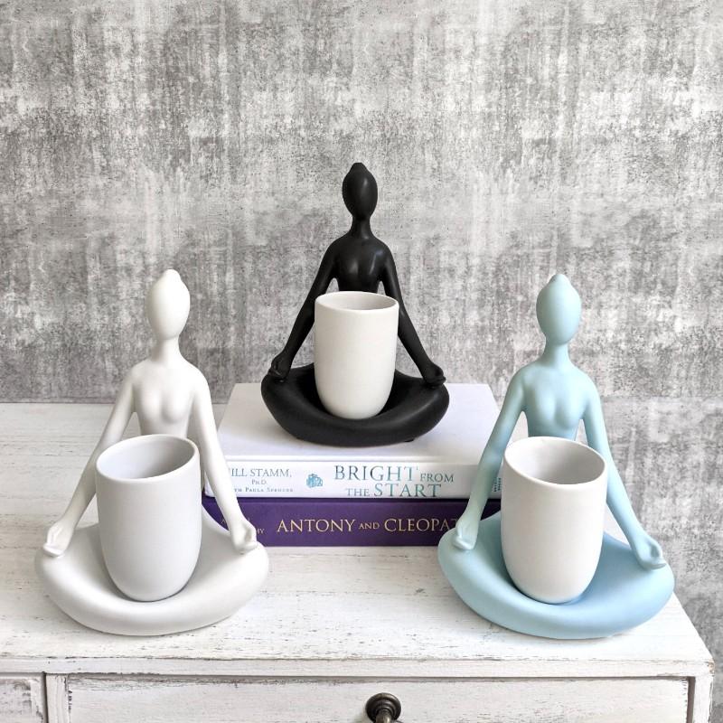 Yoga Lady Planter Pot