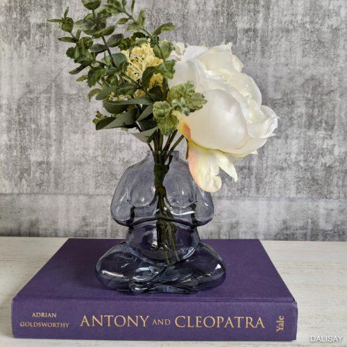 Blue Namaste Glass Decorative Flower Vase
