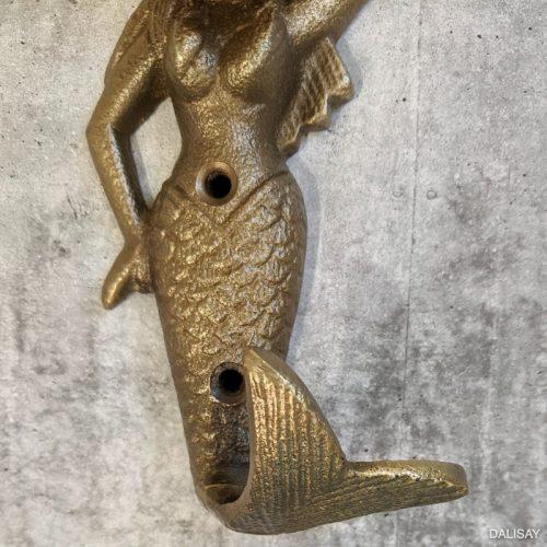 Brass Mermaid Wall Hook