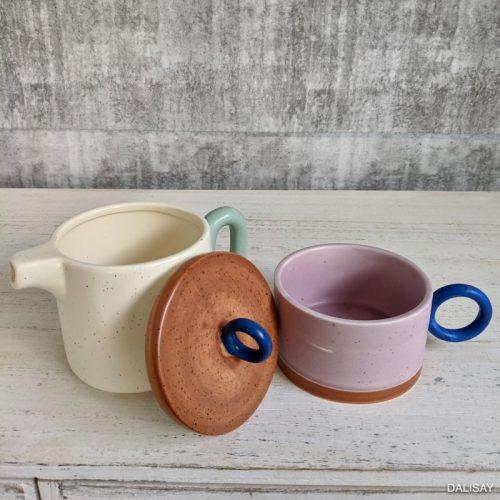 Colourful Ceramic Tea for One