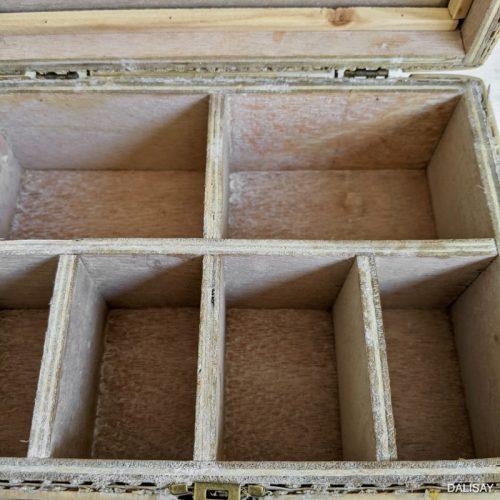 Hamptons Rattan Glass Jewellery Trinket Box