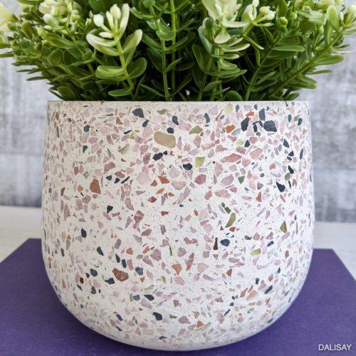 Multi Coloured Pink Terrazzo Planter Pot