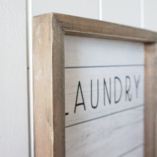 Wash Dry Fold Laundry Quote Farmhouse Sign Timber Wall Art