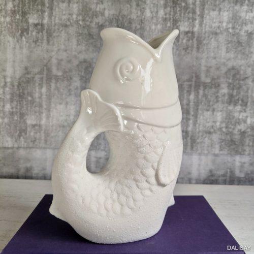 White Scaly Fish Decorative Flower Vase