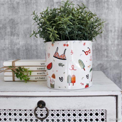 Beach Summer Quirky Planter Pot