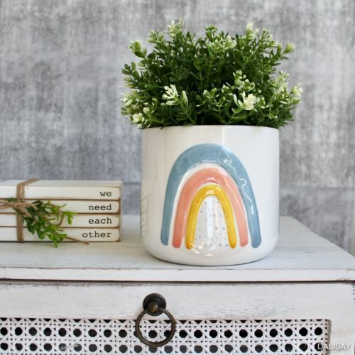Blue Rainbow Planter Pot