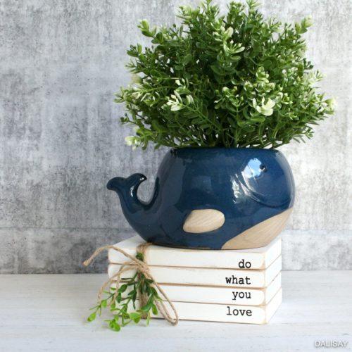 Happy Blue Whale Planter Pot
