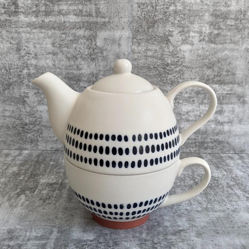 Blue White Ceramic Tea for One Set