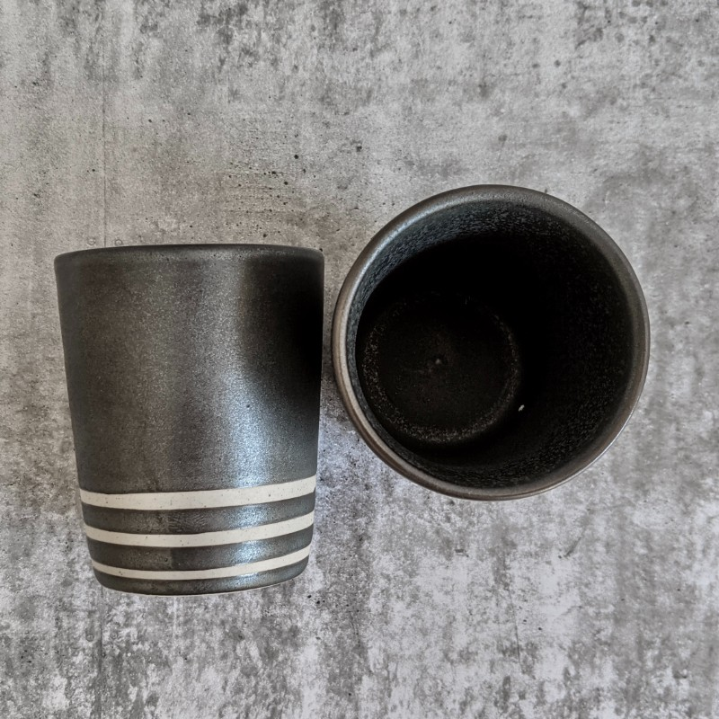 Charcoal Espresso Coffee Cup - Set of 2