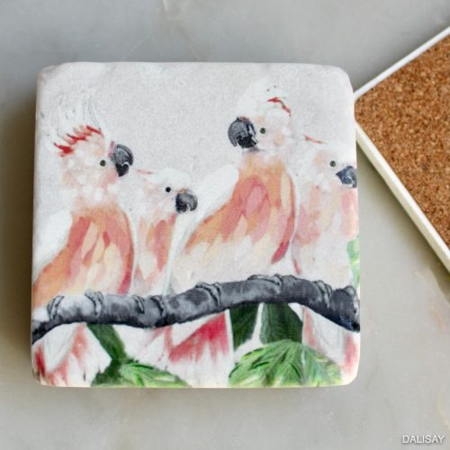Cockatoo Bird Drink Coaster - Set of 4