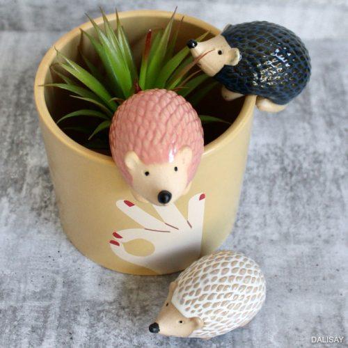 Pink White Blue Echidna Pot Planter Sitter - Set of 3