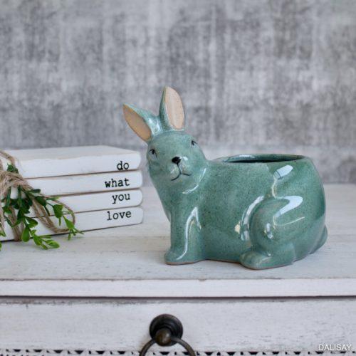 Green Bunny Rabbit Succulent Planter Pot