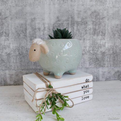 Green Sheep Planter Pot