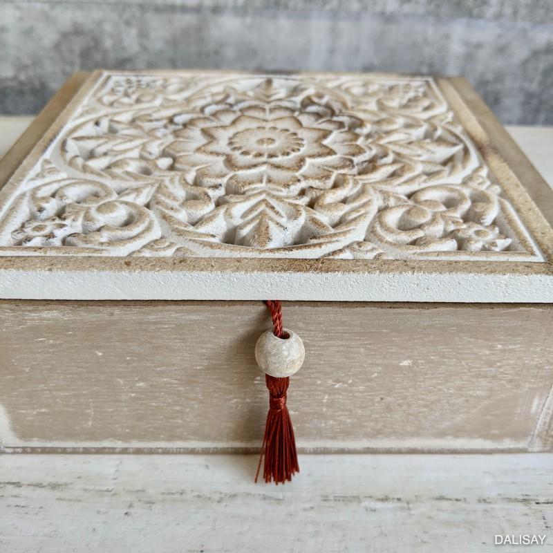 Hamptons Mandala Trinket Box With Tassels