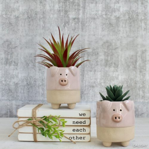 Pink Pig Succulent Planter Pot - Set of 2