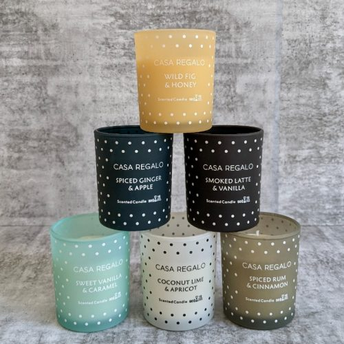 Scented Candle Polka Dot Glass Jar - 6 Variants