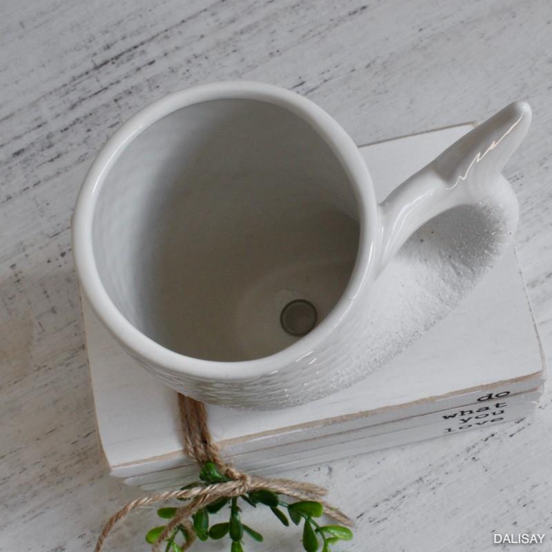 White Fishtail Planter Pot