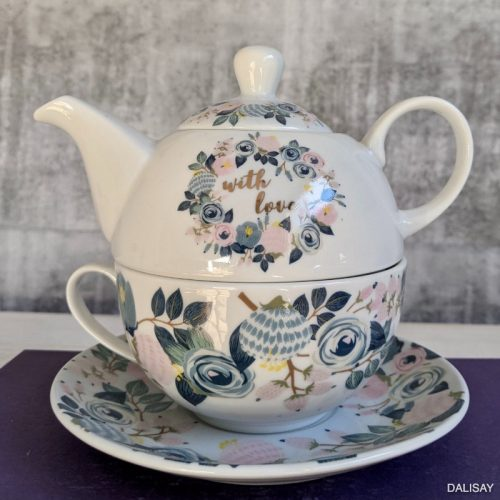 With Love Floral Tea for One Set